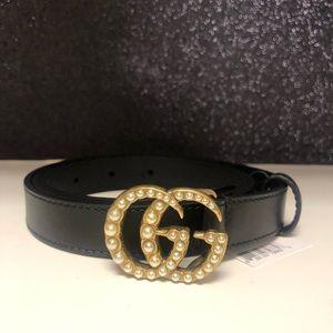 NWT authentic Gucci thin pearl belt sz 90
